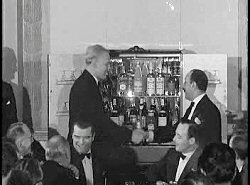 Mike receiving his cocktail cabinet in 1959
